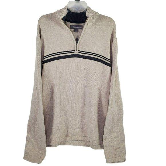 Eddie Bauer Men XL Quarter Zip Pullover Sweatshirt